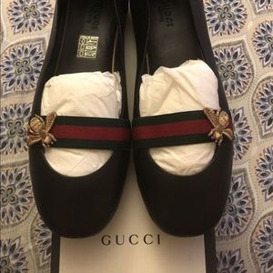 Gucci Napa Moore's Arango Flats Shoes